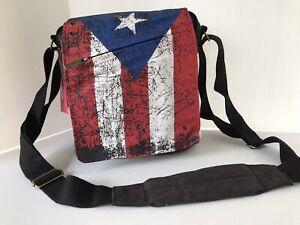 NWT Robin Ruth PUERTO RICO Flag Unisex Messenger Crossbody Shoulder Bag SOUVENIR