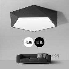 Modern White Black Acrylic LED Ceiling Lamps Drum Fixture Lights Indoor Lighting