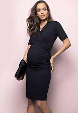 Seraphine maternity Size 8 short sleeve bodycon very soft stretchy midi dress