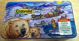 New Sealed 1998 Crayola Art Set In Collectible Tin