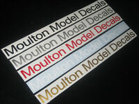 2 Moulton Cycling Stickers Decals Graphics Bike Vintage Frame Forks Custom Sizes