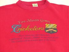 *BEST COMPANY CASUAL T SHIRT*VINTAGE*FIRST MASTER GAMES CRICKETERS*GR: S*TIP TOP
