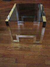 Design Institute America DIA Brass & Glass Side Table Milo Baughman MCM