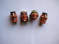 "4 Ü-Ei-Figuren "" Indianerköpfe - Fingersteckfiguren """