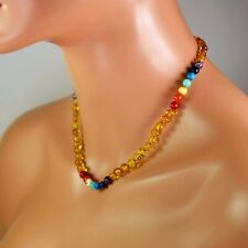 Amber necklace, Baltic amber necklace, rainbow amber necklace, Baltic amber