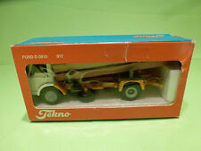 TEKNO HOLLAND 917 FORD D810 - TRUCK WOOD TRANSPORTER - WHITE 1:50 - VG IN BOX