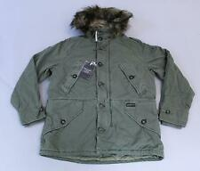 Abercrombie & Fitch Men's Sherpa-Lined Cotton Parka HD3 Green Large NWT $260