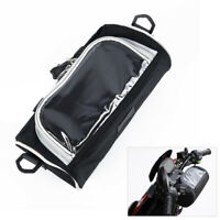 Motorcycle Electric Car Front Handlebar Fork Storage Bag Container W/ Phone Case