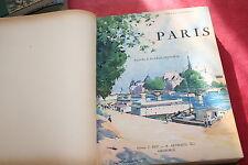 PARIS par PIERRE GAUTHIEZ éd ARTHAUD 1928 AQUARELLES DE P.E. LECOMTE FORT VOL
