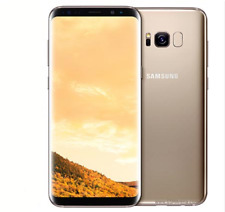 """Samsung S8 G950F 5.8"""" 64GB Wi-Fi GPS Android Golden Smartphone+Accessories Gift"""