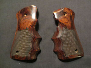 """Ruger Mark """"Mk IV 22/45"""" ONLY Rosewood Checkered FG Target Pistol Grips NewStyle"""