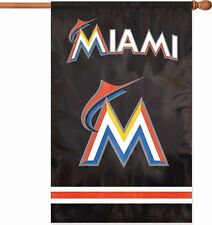 """New listing Florida Marlins Mlb Applique Banner Flag 44"""" x 28"""" - new in package"""