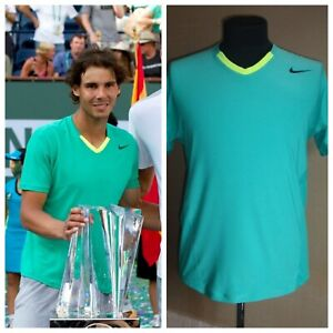 Nike Rafael Nadal 2013 Indian Wells Tennis Shirt Size M