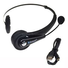 UK Wireless Bluetooth headset headphone with Microphone for PS3 laptop PC Black