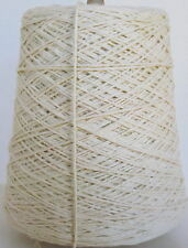 NATURAL 3-ply Cotton Cone Yarn Weave Knit Crochet 1050 ypp 1 lb