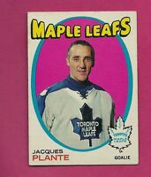 1971-72 TOPPS  # 10 LEAFS JACQUES PLANTE GOALIE  CARD