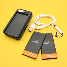 2x 5970mAh Battery Travel Charger USB 2.0 Cable Pen for Samsung Galaxy S5 Active