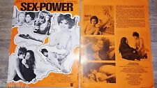 SEX POWER ! jane birkin b lafont  dossiers presse scenario cinema 1970