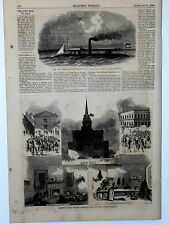 Harper's Weekly Page U.S.Civil War Mobile Rebel Ram Columbia SC Jail Scenes 1864