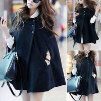 Winter Women Warm Batwing Cloak Cape Coat Loose Poncho Jacket Outerwear Tops New