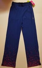 Zumba Wear Fitness Tri-Me Jammin' Jersey Pants - Surf's Up Blue XS XSPICY NWT