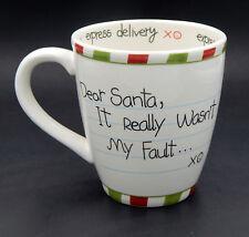 St. Nicholas Square Christmas Holiday Mug Dear Santa It Really Wasn't My Fault