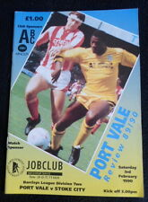 Port Vale v Stoke City   3-2-1990