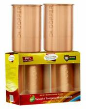 New listing Dr. Copper Set of 4 Seamless Pure Copper Glasses - 300ml Each,Drinking Serving