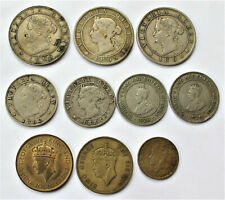 JAMAICA  OLD COIN COLLECTION  -- VARIOUS YEARS -- AND GRADES  APPROX 10 COINS