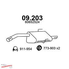 Auspuff Alfa Romeo 156 1.6 1.8 2.0 T Spark Sportwagon Endtopf + Anbaumaterial