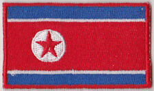 North Korea Country Flag Embroidered Patch T4