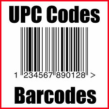 (50) UPC Codes Amazon Barcode Number GS1 Certified