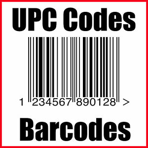 (10) UPC Codes Amazon Barcode Number GS1 Certified