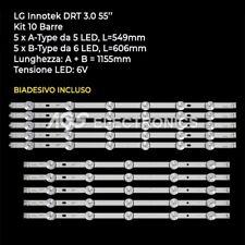 KIT 10 BARRE STRIP LED TV LG AGF78401601 6916L-1987A/1988A 55LB580V 55LB630V