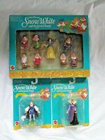 Vintage Mattel Snow White and the Seven Dwarfs Action Figure Set Walt Disney