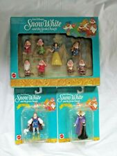 Vintage Mattel Snow White and the Seven Dwarfs Action Figure Set Walt Disney