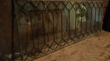"Antique Leaded Glass Window~48"" X 18"" Decorative"