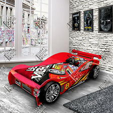 New Design Red Single Kids Children Night Sports Racing Car Bed Beds Bedroom