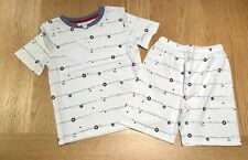 The Little White Company ⚓️ Nautical Wave Shortie Pyjamas, Age 2-3 Years - NWT