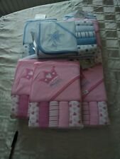 hooded baby towels and flannel set