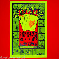 The Offspring 1997 Original 11x17 Concert Poster. Portland, Or. Mint. Last One!