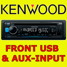 KENWOOD CAR CD USB RADIO STEREO TUNER HEAD UNIT PLAYER iPOD/iPHONE AUX INPUT