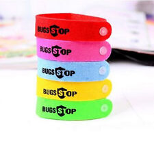 5pc Anti Mosquito Bug Repellent Wrist Band Bracelet Insect Nets Bug Lock Camping