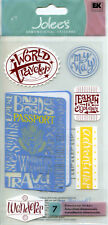 "Jolee's Boutique ""WORLD TRAVELER"" Dimensional Scrapbooking Sticker - AF58"