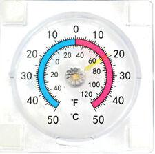WINDOW THERMOMETER INDOOR OUTDOOR GARDEN GREENHOUSE Fahrenheit and Centigrade