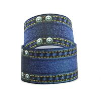 """1.5/"""" OR 3/"""" INCH CHRISTMAS BLUE LET IT SNOW FOR HAIR BOWS GROSGRAIN RIBBON"""