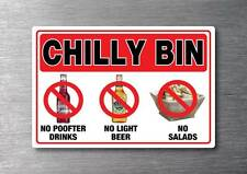 Chilly bin sticker 150mm x 100mm no P**fter drinks light beer salads kiwi nz