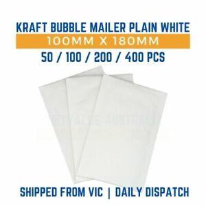 White Kraft Bubble Padded Mailer Envelope 100mm x 180mm - 50/100/200/400 pcs