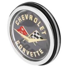 1962 Corvette C1 Rear Emblem Assembly Black Back Plate Trim Parts USA-Made NEW