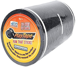 "PlayTape Black Road 30'x4"" Road Car Tape Great For Kids Quick Cleanup NEW"